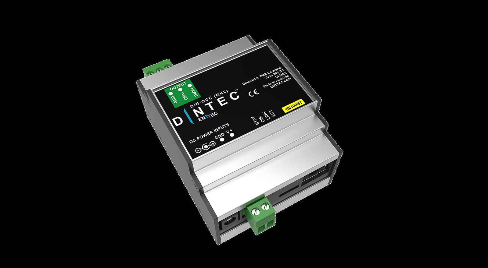 DIN RAIL DMX-artnet node