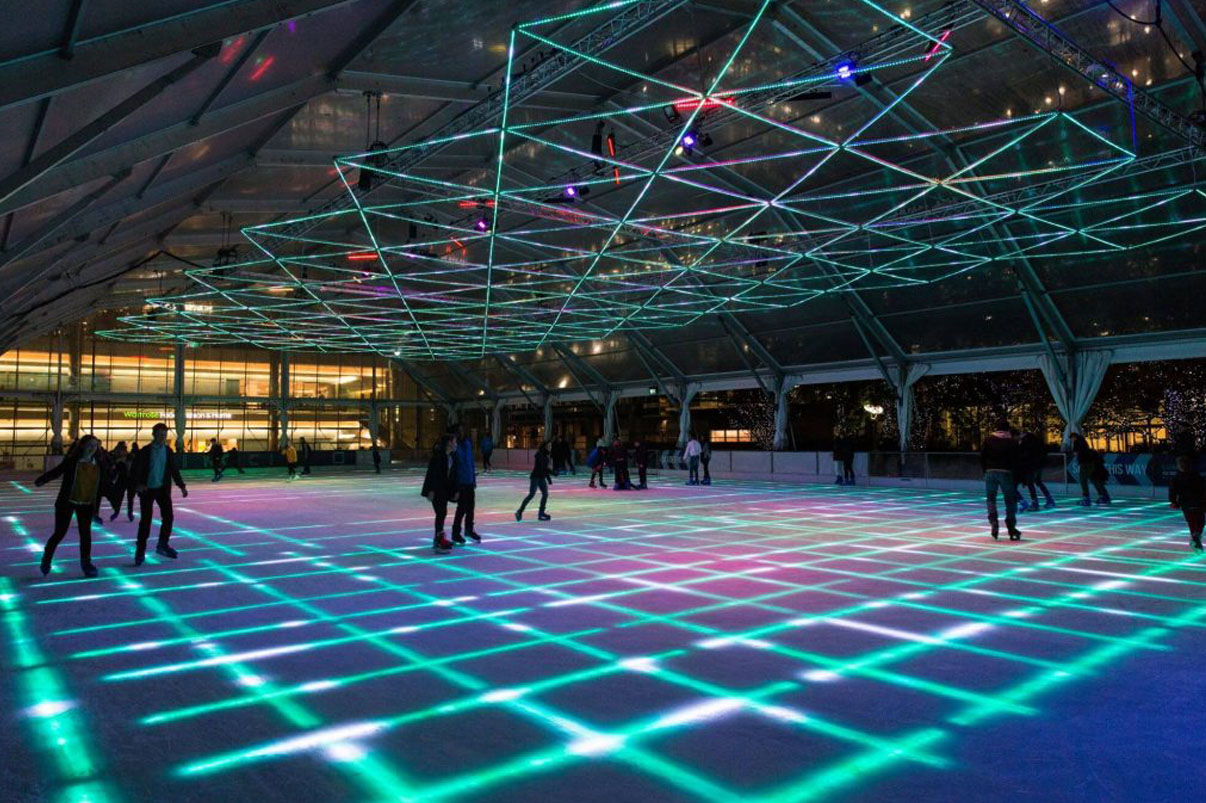 LED Ice Rink | ENTTEC