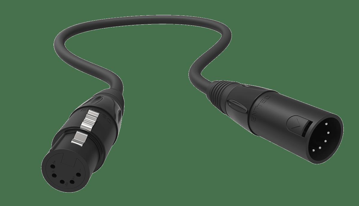 5pin dmx cable male – female (0 5 m)