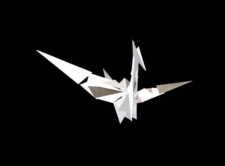 Origami bird 3D illusion